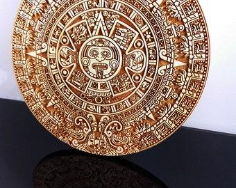 Sonnenstein 'Mayan Calendar' laser engraving