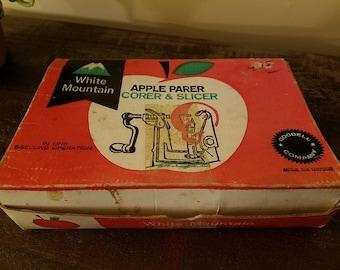 Vintage 1950's White Mountain  Apple Parer, Corer and Slicer