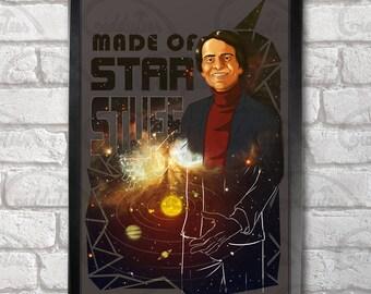 Carl Sagan Poster Print A3+ 13 x 19 in - 33 x 48 cm  Buy 2 get 1 FREE