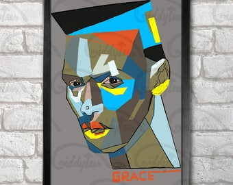 Grace Jones Poster Print A3+ 13 x 19 in - 33 x 48 cm  Buy 2 get 1 FREE