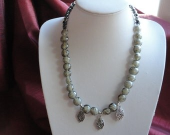 Classic Lampwork Beaded Necklace - N5