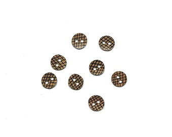 Pineapple Buttons - 1/2 inch - Set of 8