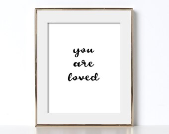 You Are Loved Poster Nursery Wall Picture Nursery Poster You Are Loved Print Digital Download Playroom Decor Playroom Poster Love Poster