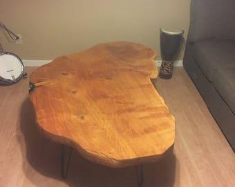 Western Juniper Slab Coffee Table