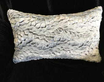 Faux Fur Lumbar Pillow Cover