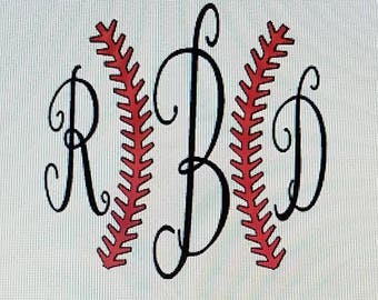 Monogrammed Baseball Tshirt