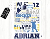 Ice Hockey Subway Art Male Player Word Art | Hockey Word Poster | Personalized Digital Download 4x6, 5x7, 8x10 or 12x18 JPG