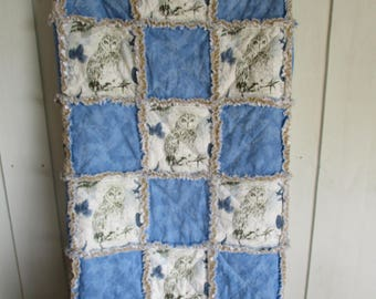 Owl throw quilt-natures beauty