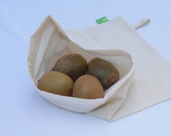 Organic Cotton Reusable Produce Bag- 11x14