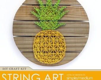 Pineapple String Art DIY Wood Pallet Sign Yarn Art Kit
