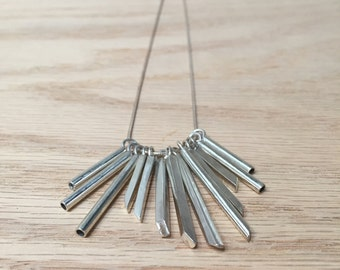 Sterling Silver Necklace No. 14 - Geometric - Modern - Handmade