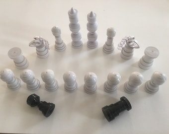 Set complete chess quilling varnish made hand