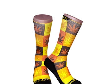 Handmade Sublimated Socks style Fire OG