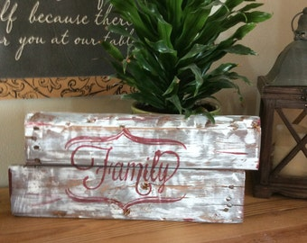hand painted wooden sign
