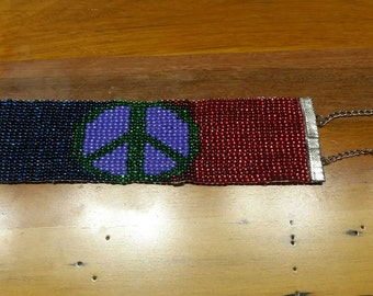 Come Together for Peace Hand Made Bead Bracelet or Anklet