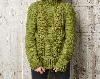 Textured Crochet Jumper, Bobble Jumper, Crochet Pullover, Crochet Pattern, Sara Huntington, Wendy Yarn, Crochet Pullover, Jumper Pattern,