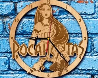 Pocahontas clock princess pocahontas art pocahontas birthday gift pocahontas party decor pocahontas print pocahontas wall art costume