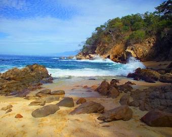 Las Caletas Beach, Puerto Villarta, Baja California, Mexico  - Canvas Gallery Wrap