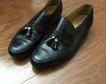 VINTAGE Bally Pinch Tassel Loafers