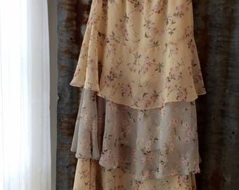 Vintage 1980 layered skirt by Sally Browne
