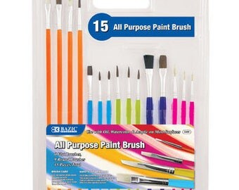 BAZIC Assorted size paint brush set