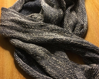 blue and white circle scarf
