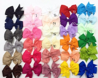 """3.2"""" Grosgrain Ribbon Hair Bows with Hair Clips For Women Baby Boutique HairBows/Hairclips Girls Hair Accessories you pick colors"""