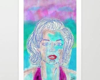 Watercolor Marilyn