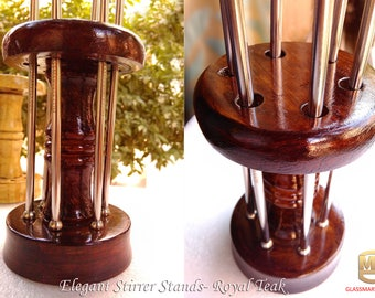 Solid Wooden Stirrer Stand for Drink Stirrers
