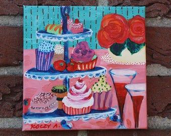 Pop-Tarts, acrylic painting, 20 / 20 cm