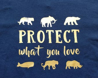 Protect What You Love - Toddler/Kids' T-shirt - Earth Day - March for Science - Endangered Species - Eco-Friendly