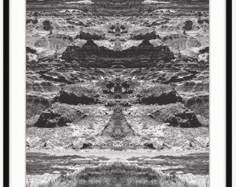Nature Cycle - Black and White Landscape Photography Turned Optical Art - Home Decor