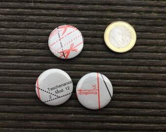 Button sew close-up pattern motif