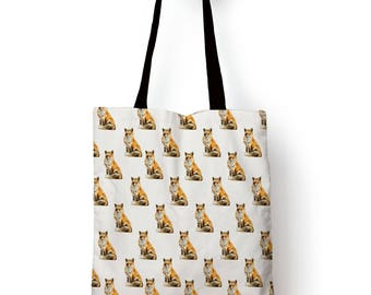 Fox Pattern, edge to edge Tote bag