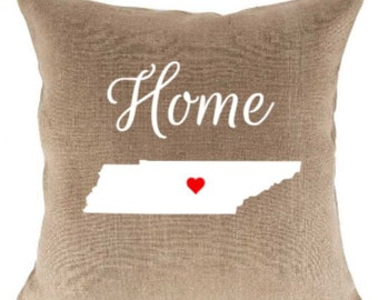 18 inch Home State Jute Pillow Cover