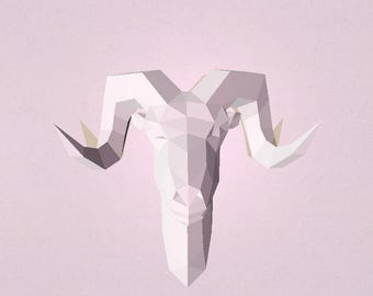 Papercraft Ram head - Make Your Own Ram Head from PDF template.