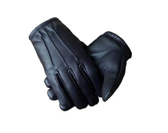 Genuine Black Leather Driving gloves