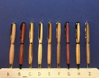 hand turned wood pens
