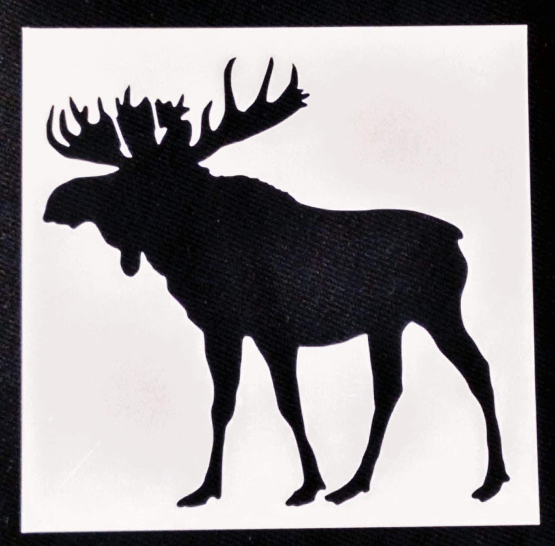 reusable stencil moose stencil animal stencil plastic craft