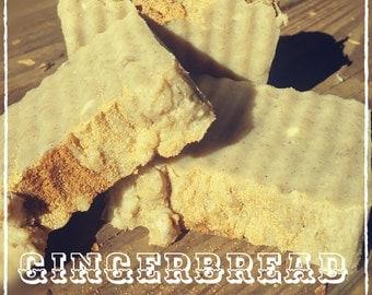 4.5oz GINGERBREAD SOAP, Homemade Gingerbread Soap, Organic Soap, Natural Gingerbread Soap, Artisan Soap, Vegan Soap, Hot Process Soap, Soap