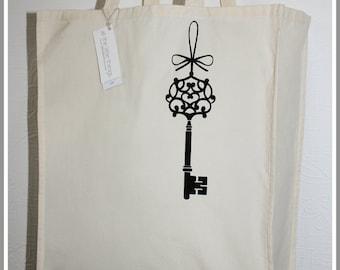Black Key Organic Cotton Shopper Bag (Large)