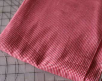 1 Red Gingham Flannel Soft flannel Fabric 1