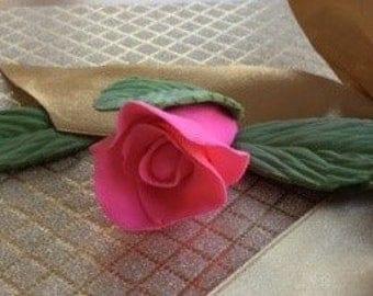 Gumpaste rose bud. Hand crafted, wedding, birthday cake topper.