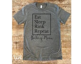 Hockey mom shirt, boy mom shirt, hockey shirt, mom shirts, customized shirts, gift for mom, gift for wife, sports shirt, hockey