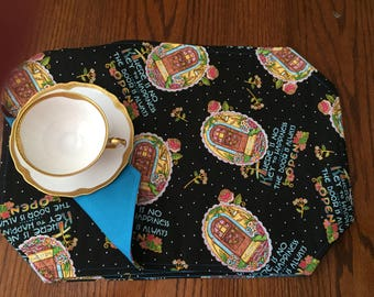 """Open Door Placemats  approximately 18.5"""" x 12.5"""" set of 4, smoke and animal free"""