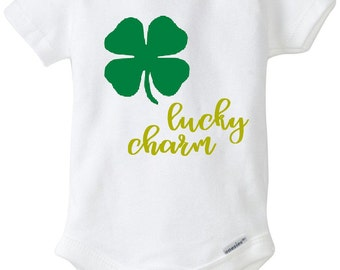 Lucky Charm Onesie, Lucky Charm, St. Patrick's Day, St. Patty's Day, Baby Onesie