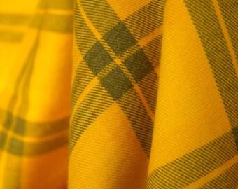 Mustard Tartan Woven Fabric