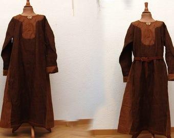 Dress, linen, medieval, Viking, RUS, Slaven, reenact, LARP, children, Gr. 128