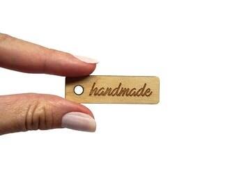 Tag handmade small x 10 x100, Small tag craft, Wooden tag craft handmade DIY products, Tags wood handmade lasercut wood plexiglas - SET 5 pz