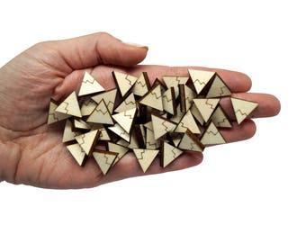 Mini mountains x20, Mountain clip earring supplies, Alps mini bijoux little earrings, Mountain small lasercut wood plexiglas - SET 20 pz